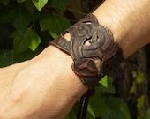 Viking leather bracelet, viking jewelru, viking bracelet for larp or cosplay