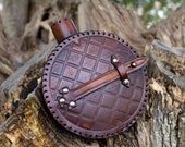 Larp canteen, leather water bottle for cosplay, steampunk... War collectible canteen
