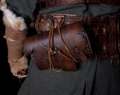 Viking belt pouch. Larp leather fanny pack. Medeival, celtic Pagan, Barbarian leather purse