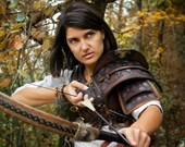 Larp female armor The Witcher Cosplay BROWN, Costume, Leather Armor Props medieval fantasy