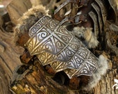 Viking bracer, Skyrim armor Larp style norse. Bracers for a cosplay or larp.