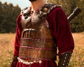 Viking armor. Leather armor for halloween, viking costume, cosplay or larp