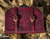 Leather Grimoire, Leather Spell book, Witchcraft  journal, for witchs, mages and wizards.