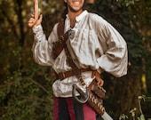 Leather pirate baldric for larp. Costume corsair, steampunk, western...