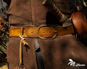 Larp belt for pirate costume, cowboys, steampunk or Western with pirate holster