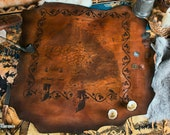 Leather Custom Map. Personalized fantasy world map for larp or cosplay. Warhammer cosplay