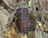 LARP Can holder leather. Handmade accessory for viking, celtic, barbarian, pagan or medieval cosplay