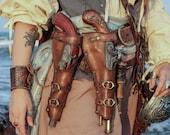 Gun leather holster of  Flintlock pistol for larp, steampunk or cosplay