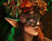 Samhain Masquerade mask for Halloween costume. Fairy mask, witch or nymph
