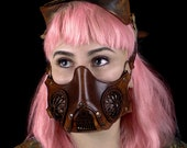 Steampunk Gas Leather Mask Post apocalyptic for halloween or larp costume. Victorian mask