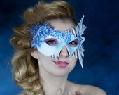 Frozen halloween Masquerada leather mask. Costume or cosplay disney