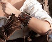 Personalized leather bracelet inspired in Witcher. Custom logo. Medieval bracelet.