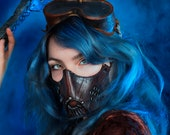 Face Mask Post apocalyptic or Steampunk leather mask