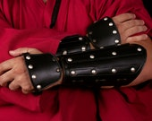 Medieval or samurai leather bracers armor . Inspired in the witcher