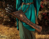 Brown leather quiver. Barbarina, viking arrow. Celtic quiver