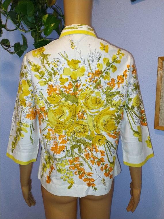 1960s Vera blouse Mid Century Mod Peter Pan colla… - image 2