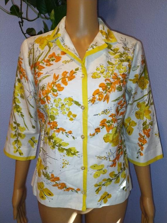 1960s Vera blouse Mid Century Mod Peter Pan colla… - image 8
