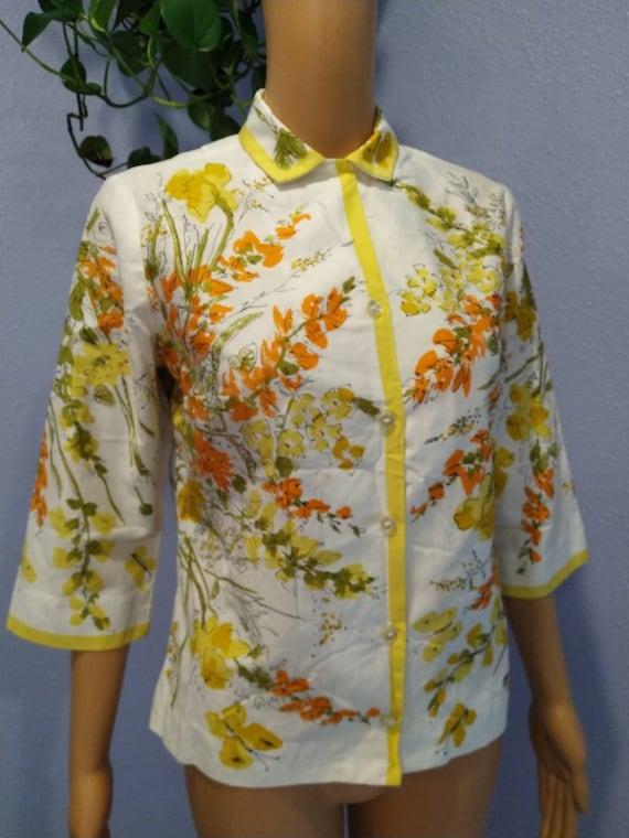 1960s Vera blouse Mid Century Mod Peter Pan colla… - image 3