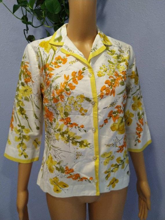 1960s Vera blouse Mid Century Mod Peter Pan colla… - image 4