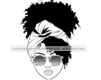Black girl afro clipart