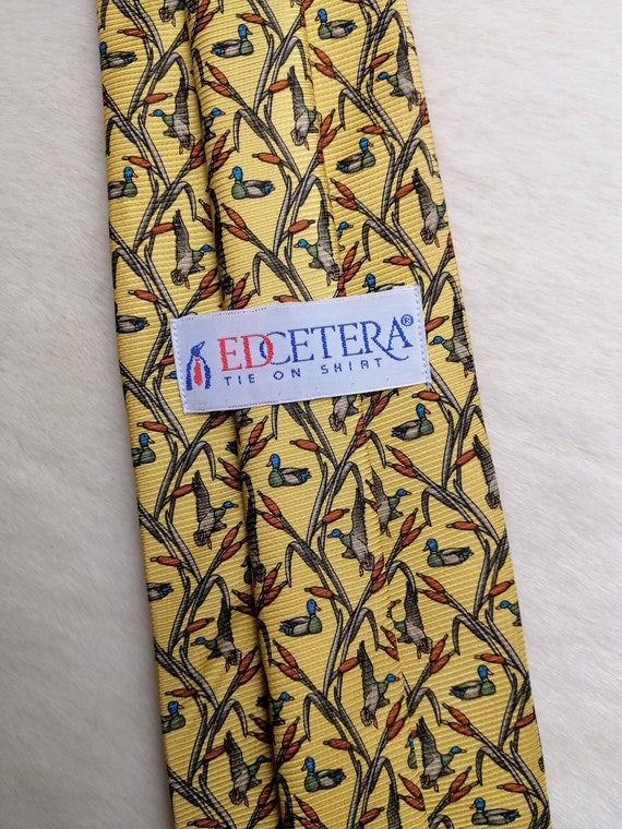 Vintage Flying Duck Motif Necktie by Marmalade Park