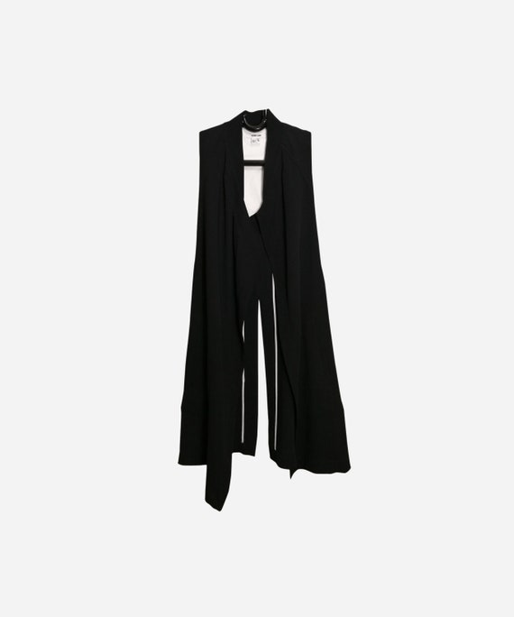 HELMUT LANG Vintage Womens Sleeveless Long Vest Bl