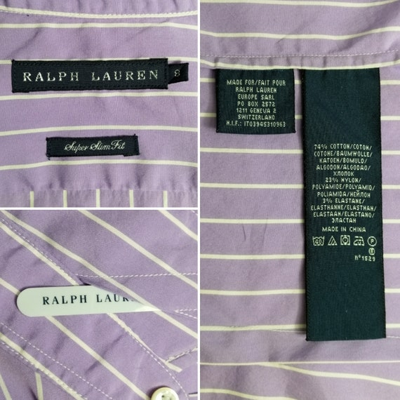 RALPH LAUREN Vintage Womens Ruffle Blouse Lilac C… - image 3