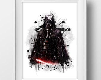 DARTH VADER STAR WARS SUPER VILLAIN GIANT ART POSTER PRINT  WA433