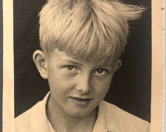 Freckled Boy Photo Vintage Photo Vintage Young Man Photo Prop All Up Photo s**D