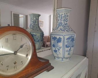 Large Blue Vase Etsy