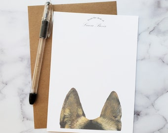 Personalized German Shepherd Stationery Cards-Set of 10