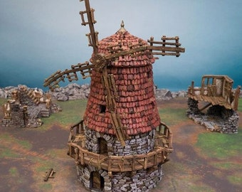 AoS Fantasy Terrain - Haunted Windmill