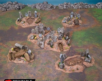 AoS Fantasy Terrain - Graveyard Hills