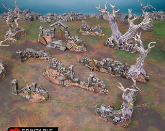 AoS Fantasy Terrain - Hallowed Graveyard Walls