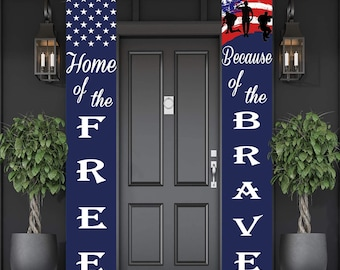 Patriotic 4th of July porch decor is some of my favorite home decor to shop for! Etsy is an especially great spot to find unique decor finds--and that includes patriotic porch decor. You can't go wrong with these patriotic banners.