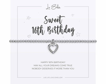 Adjustable Silver Jewellery with a Heart Charm and in set Cubic Zirconia Gift Card /& Bag from Lu Bella Mothers Day Bracelet For Women