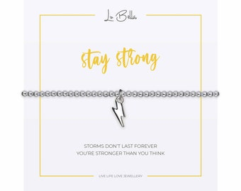 Adjustable Silver Jewellery with Moon /& Stars Charm and Gift Bag from Lu Bella I Love You Bracelet For Women