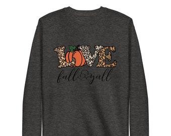 Love Fall Sweater, Fall Shirt, Pumpkin Sweater