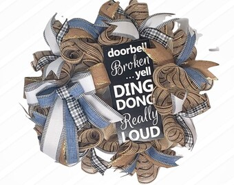 Everyday Wreath for Front Door, Farmhouse Front Porch Decor