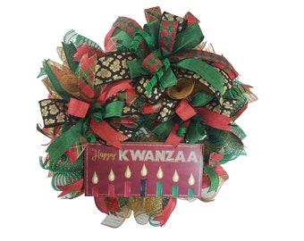 Kwanzaa Wreath Door Hanger