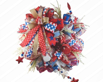 Stars Patriotic Wreath, Memorial Day, Fourth of July, Labor Day