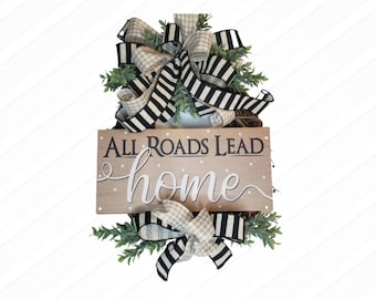 Everyday Wreath for Front Door with Sign, Farmhouse Front Door Decor, Front Porch Decor