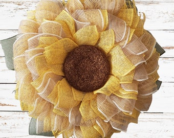 Sunflower  Wreath, Fall Wreath,Fall Door Hanger