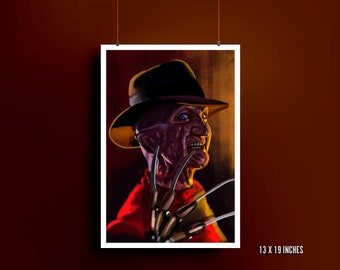 A Nightmare on Elm Street Art Print | Freddy Krueger | Robert Englund