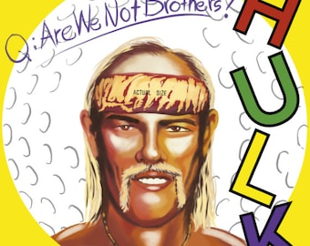 Hulk Hogan / DEVO Mashup Album Cover Art Print