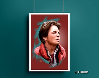 Marty McFly Art Print | Back to the Future | Michael J. Fox