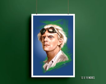 Dr. Emmett Brown Art Print | Back to the Future | Christopher Lloyd