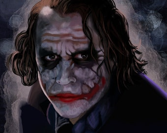 The Dark Knight Joker Art Print | Heath Ledger