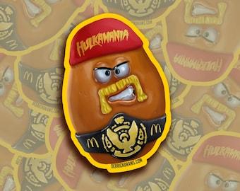 "Hulk Hogan Nugget Buddy 3"" Sticker   WWE Legend   WWF   nWo   WCW   McDonalds"