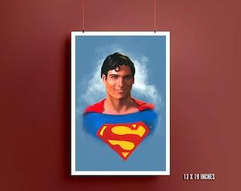 Superman Art Print | Christopher Reeve